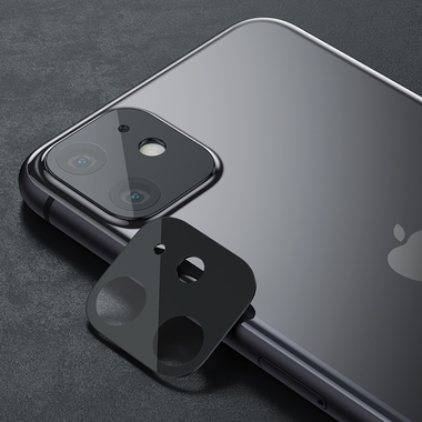 Защитная пленка на камеру iPhone 11, черная рамка KR - 2шт., фото №8