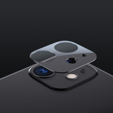 Защитная пленка на камеру iPhone 11, черная рамка KR - 2шт., фото №9