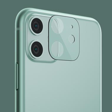 Сапфировое защитное стекло на камеру iPhone 11, фиолетовая мет. рамка DR - 1шт., фото №13