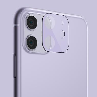 Защитное стекло на камеру iPhone 11, фиолетовая рамка KR - 2шт., фото №10