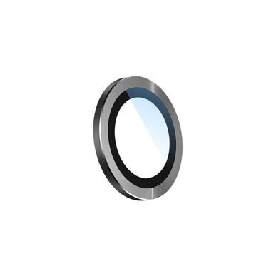 Сапфировое защитное стекло на камеру iPhone 11 Pro/11 Pro Max,  мет. рамка DR (Gray) - 1шт., фото №8