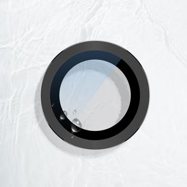 Сапфировое защитное стекло на камеру iPhone 11 Pro/11 Pro Max,  мет. рамка DR (Gray) - 1шт., фото №9