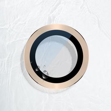 Сапфировое защитное стекло на камеру iPhone 11 Pro/11 Pro Max, мет. рамка DR (Gold) - 1шт., фото №7