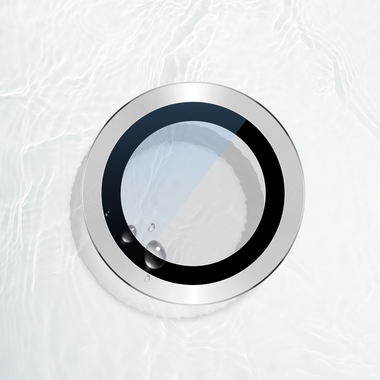 Сапфировое защитное стекло на камеру iPhone 11 Pro/11 Pro Max, мет. рамка DR (Silver) - 1шт., фото №1