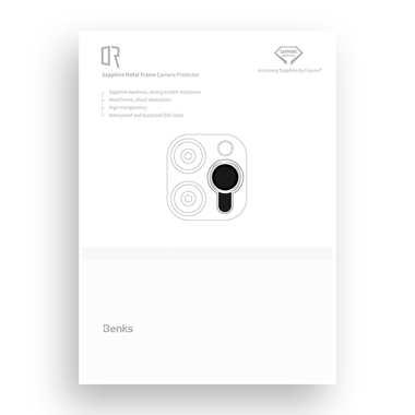 Сапфировое защитное стекло на камеру iPhone 11 Pro/11 Pro Max, мет. рамка DR (Silver) - 1шт., фото №12