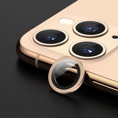 Защитное стекло на камеру iPhone 11 Pro/11 Pro Max, мет. рамка KR (Gold) - 1 шт., фото №8