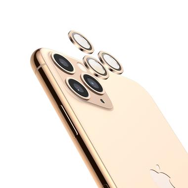 Защитное стекло на камеру iPhone 11 Pro/11 Pro Max, мет. рамка KR (Gold) - 1 шт., фото №1