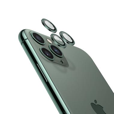 Защитное стекло на камеру iPhone 11 Pro/11 Pro Max, мет. рамка KR (Green) - 1 шт., фото №3
