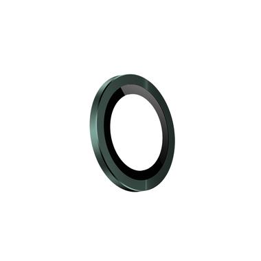 Защитное стекло на камеру iPhone 11 Pro/11 Pro Max, мет. рамка KR (Green) - 1 шт., фото №4