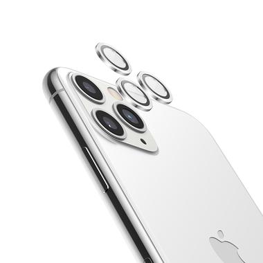 Защитное стекло на камеру iPhone 11 Pro/11 Pro Max, мет. рамка KR (Silver) - 1 шт., фото №6