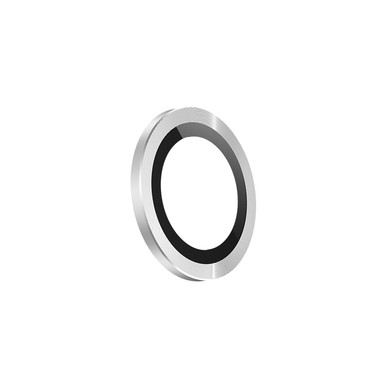 Защитное стекло на камеру iPhone 11 Pro/11 Pro Max, мет. рамка KR (Silver) - 1 шт., фото №7
