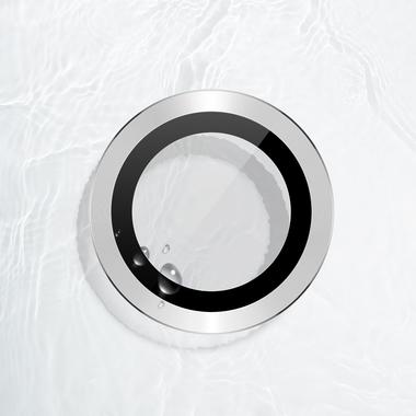 Защитное стекло на камеру iPhone 11 Pro/11 Pro Max, мет. рамка KR (Silver) - 1 шт., фото №1