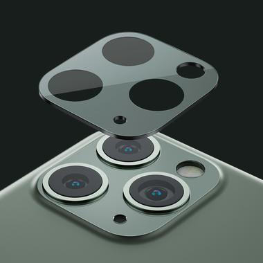 Защитное стекло на камеру iPhone 11 Pro/11 Pro Max, KR (Green) - 2 шт., фото №15