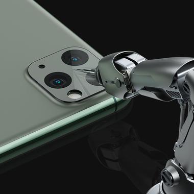 Защитное стекло на камеру iPhone 11 Pro/11 Pro Max, KR (Green) - 2 шт., фото №16