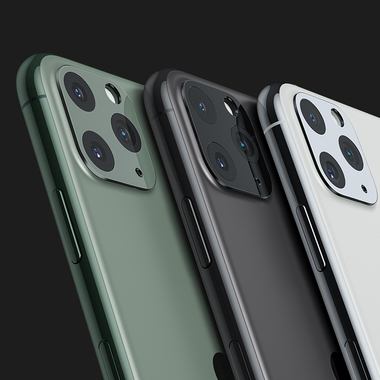 Защитное стекло на камеру iPhone 11 Pro/11 Pro Max, KR (Green) - 2 шт., фото №17