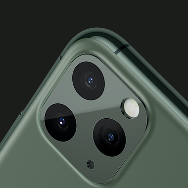 Защитное стекло на камеру iPhone 11 Pro/11 Pro Max, KR (Green) - 2 шт., фото №18