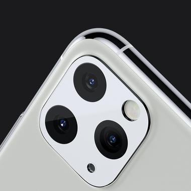 Защитное стекло на камеру iPhone 11 Pro/11 Pro Max, KR (White) - 2 шт., фото №1