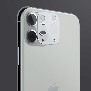 Защитное стекло на камеру iPhone 11 Pro/11 Pro Max, KR (White) - 2 шт., фото №5