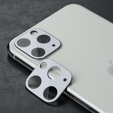 Защитное стекло на камеру iPhone 11 Pro/11 Pro Max, KR (White) - 2 шт., фото №6