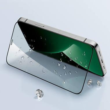 Защитное стекло iPhone 12 Pro Max 3D Vpro (green light) 0,3 мм черная рамка, фото №1