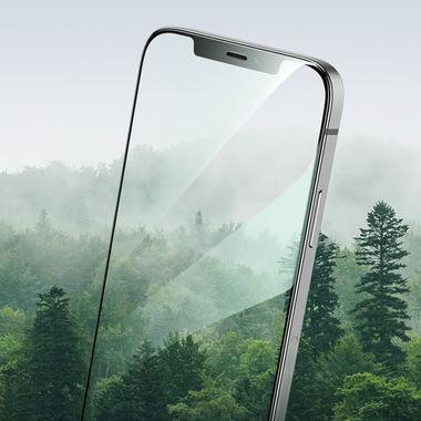 Защитное стекло iPhone 12 Pro Max 3D Vpro (green light) 0,3 мм черная рамка, фото №7
