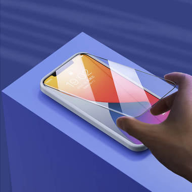 Защитное стекло на iPhone 12 Pro Max 3D Vpro 0,3 мм черная рамка, фото №1