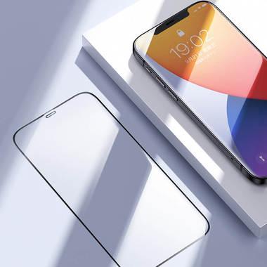 Защитное стекло на iPhone 12 Pro Max 3D Vpro 0,3 мм черная рамка, фото №9