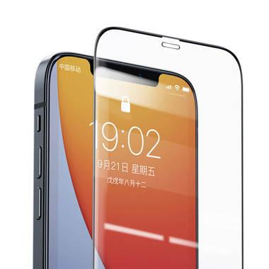 Защитное стекло на iPhone 12 Pro Max 3D Vpro 0,3 мм черная рамка, фото №10