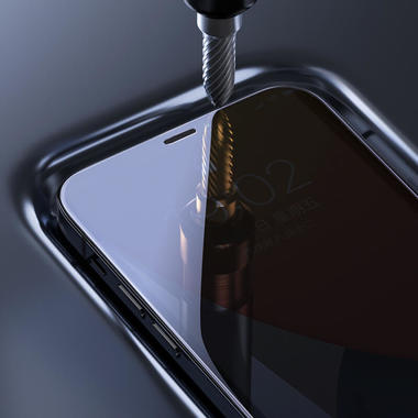 Защитное стекло на iPhone 12 Pro Max 3D Vpro 0,3 мм черная рамка, фото №11