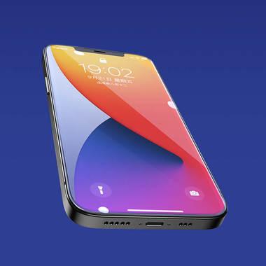 Защитное стекло на iPhone 12 Pro Max 3D Vpro 0,3 мм черная рамка, фото №12