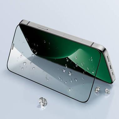 """Защитное стекло 3D на iPhone 12/12 Pro (6,1"""") Vpro (green light) 0,3 мм черная рамка, фото №11"""