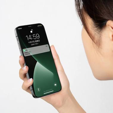 """Защитное стекло 3D на iPhone 12/12 Pro (6,1"""") Vpro (green light) 0,3 мм черная рамка, фото №13"""