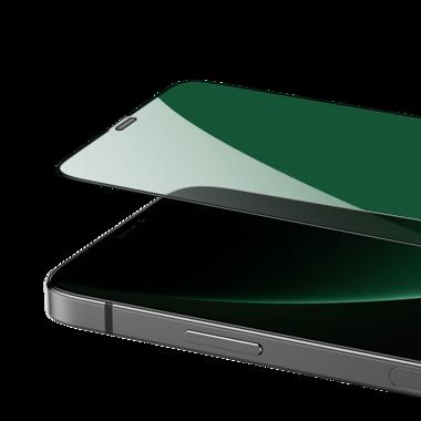 """Защитное стекло 3D на iPhone 12/12 Pro (6,1"""") Vpro (green light) 0,3 мм черная рамка, фото №14"""