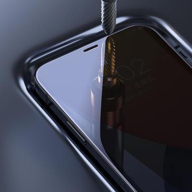"""Защитное стекло 3D на iPhone 12 mini (5,4"""") Vpro 0,3 мм черная рамка, фото №10"""