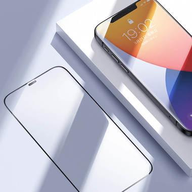 """Защитное стекло 3D на iPhone 12 mini (5,4"""") Vpro 0,3 мм черная рамка, фото №11"""