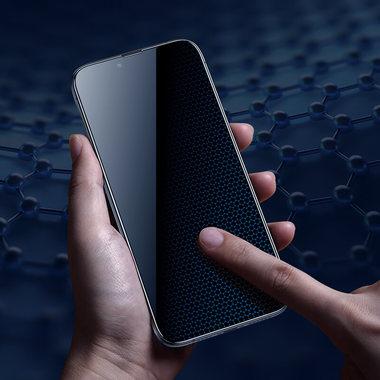 "Матовое защитное стекло 3D на iPhone 13/13 Pro (6,1"") Vpro 0,3 мм черная рамка"