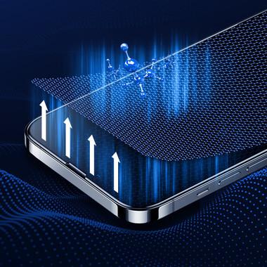 Матовое защитное стекло 3D на iPhone 13 Pro Max Vpro 0,3 мм черная рамка, фото №3