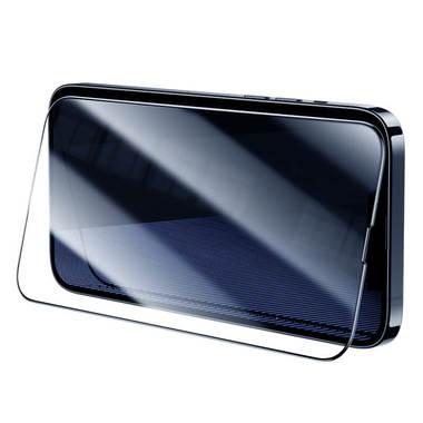 Матовое защитное стекло 3D на iPhone 13 Pro Max Vpro 0,3 мм черная рамка, фото №6