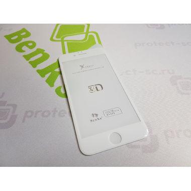 Benks Защитное стекло на iPhone 6/6S XPro 3D Белое, фото №7