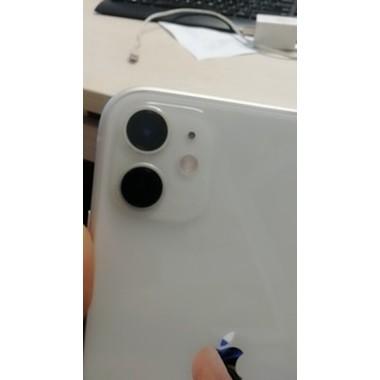 Защитное стекло на камеру iPhone 11, белая рамка KR - 2шт., фото №8, добавлено пользователем