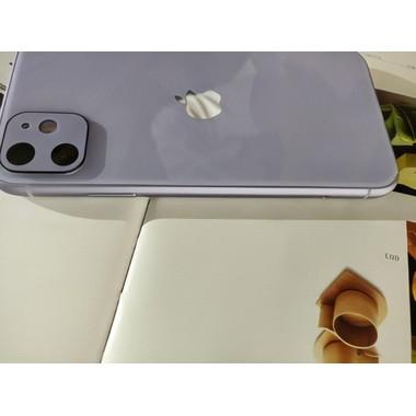 Защитное стекло на камеру iPhone 11, фиолетовая рамка KR - 2шт., фото №4, добавлено пользователем
