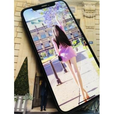 """Защитное стекло 3D на iPhone 12 mini (5,4"""") Vpro 0,3 мм черная рамка, фото №2, добавлено пользователем"""