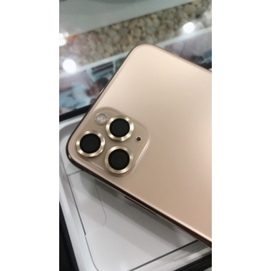Защитное стекло на камеру iPhone 11 Pro/11 Pro Max, мет. рамка KR (Gold) - 1 шт., фото №2, добавлено пользователем