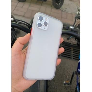Чехол для iPhone 11 Pro 0,4 mm - белый полупрозрачный LolliPop, фото №3, добавлено пользователем