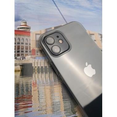 Защитное стекло на камеру для iPhone 12 mini с черным кантом - 1шт., фото №2, добавлено пользователем