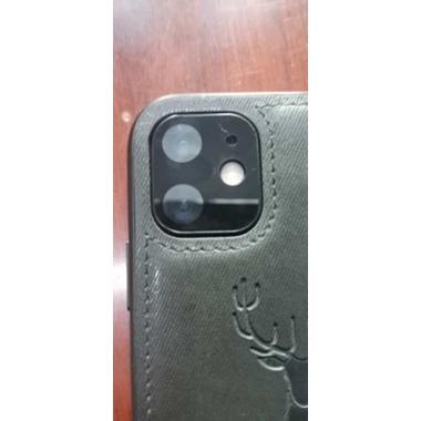 Защитная пленка на камеру iPhone 11, черная рамка KR - 2шт., фото №2, добавлено пользователем