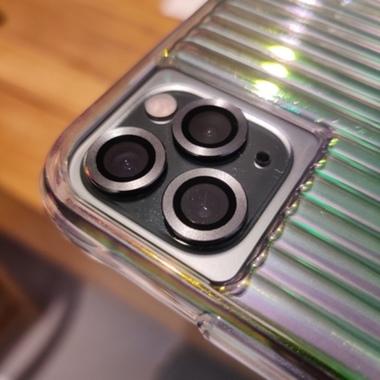 Сапфировое защитное стекло на камеру iPhone 11 Pro/11 Pro Max, мет. рамка DR (Silver) - 1шт., фото №7, добавлено пользователем