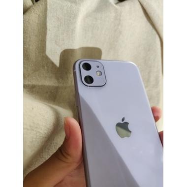 Защитное стекло на камеру iPhone 11, фиолетовая рамка KR - 2шт., фото №2, добавлено пользователем