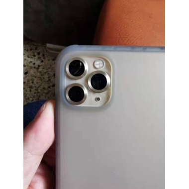 Защитное стекло на камеру iPhone 11 Pro/11 Pro Max, мет. рамка KR (Gold) - 1 шт., фото №5, добавлено пользователем