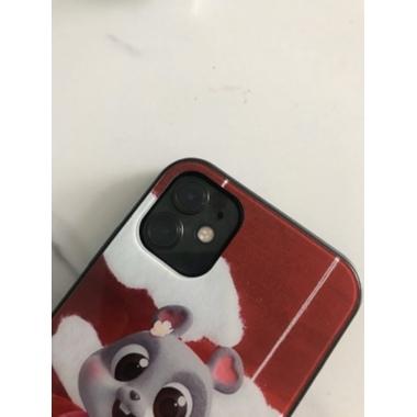 Защитная пленка на камеру iPhone 11, черная рамка KR - 2шт., фото №3, добавлено пользователем